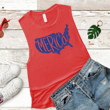Merica Graphic Women's Flowy Scoop Muscle Tank
