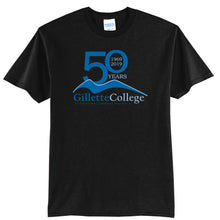 Gillette College 50 Years Black Tee