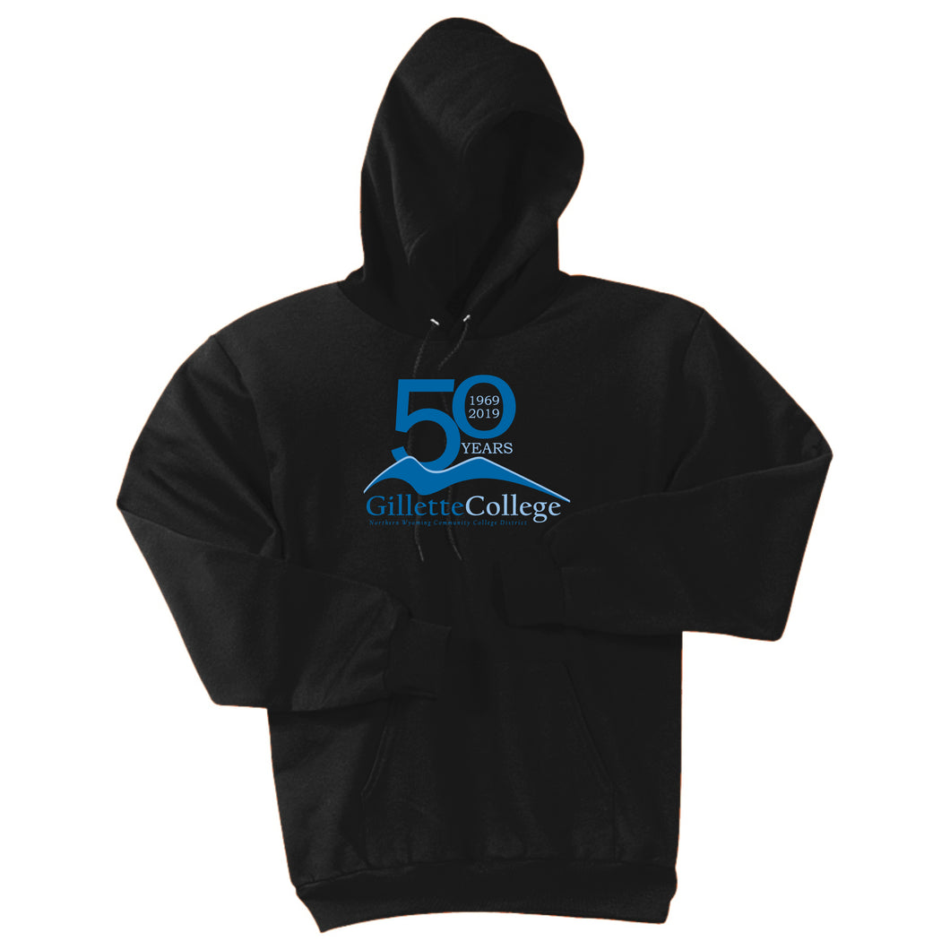 Gillette College 50 Years Black Hooded Sweatshirt
