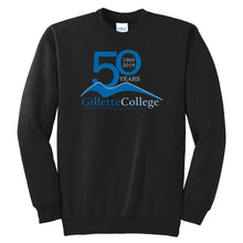 Gillette College 50 Years Black Crewneck Sweatshirt
