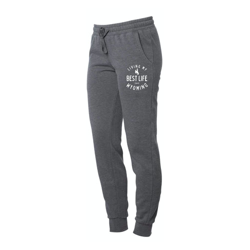 Women's Living My Best Life in Wyoming Steamboats Storm Sweatpants Joggers