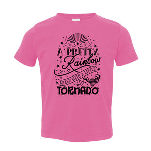 A Pretty Rainbow Mixed with a Little Tornado - Toddler T-shirt