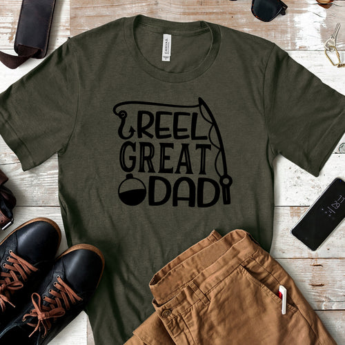 Reel Great Dad - Fishing Fathers Day T-shirt - Dad Life
