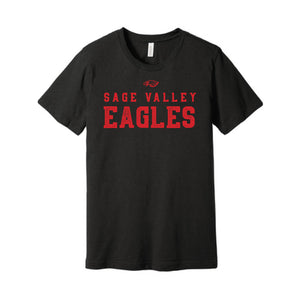 Sage Valley Eagles Black Tee