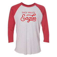 Sage Valley Eagles Red Vintage Baseball Raglan Tee