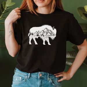 Mountain Buffalo Roam Black T-shirt
