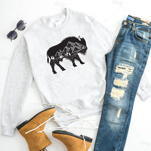 Mountain Buffalo Ash Crewneck Sweatshirt