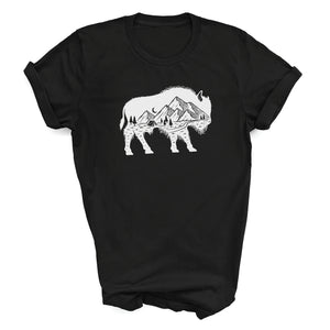 Youth Mountain Buffalo Roam Black T-shirt