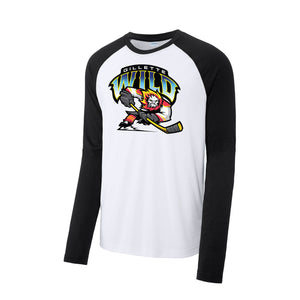 Gillette Wild Hockey Long Sleeve Tri-Blend Wicking Raglan Tee