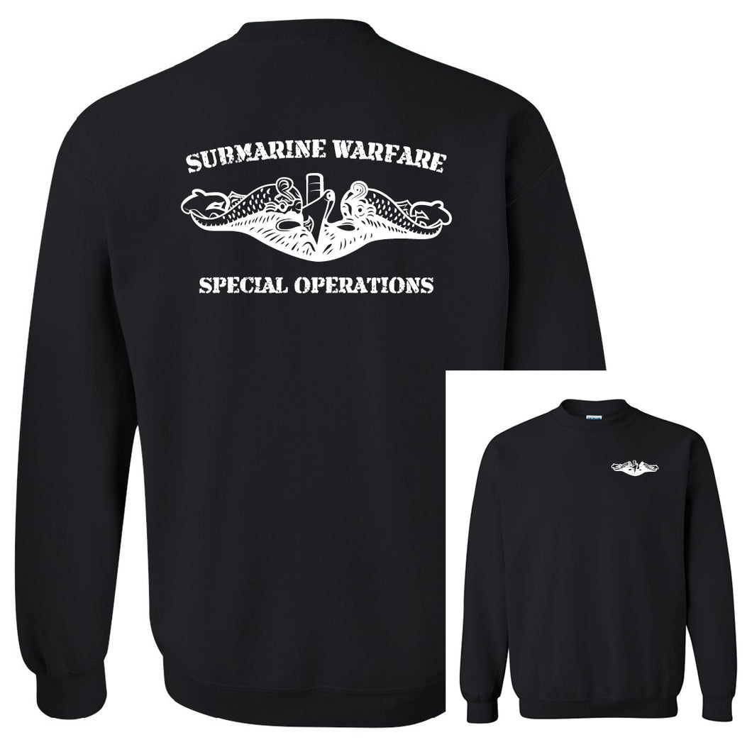 Submarine Warfare Special Operations Black Heavy Blend Crewneck Sweatshirt
