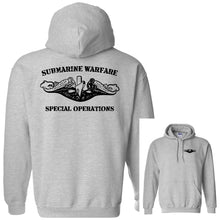 Submarine Warfare Special Operations Grey Heavy Blend Hooded Sweatshirt