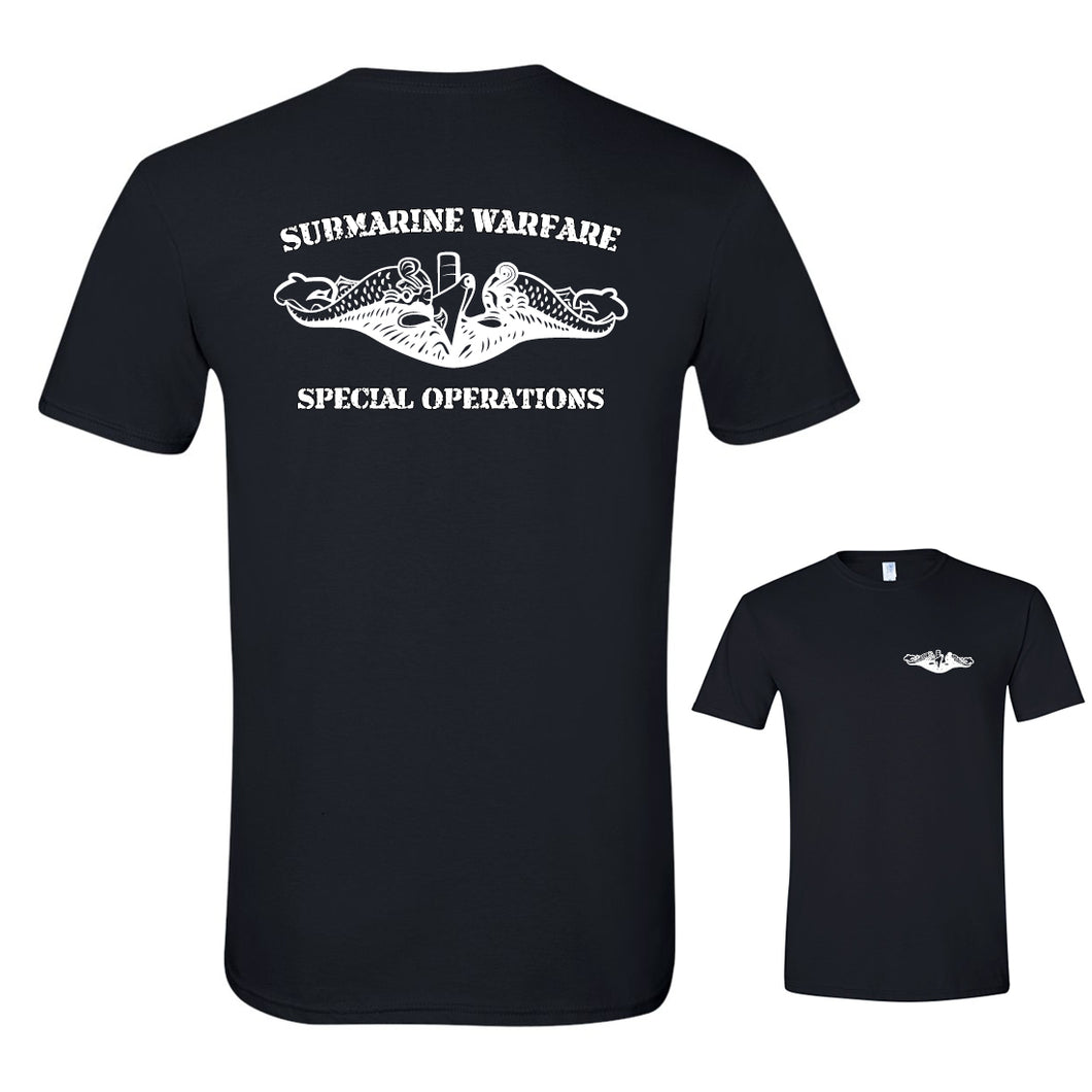 Submarine Warfare Special Operations Black Softstyle T-Shirt