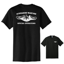 Submarine Warfare Special Operations Black Core Blend Pocket Tee