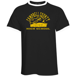 Campbell County High School Camels – Black Ringer Tee