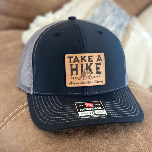 Take a Hike - Devils Tower Wyoming Leather Patch Snapback Hat