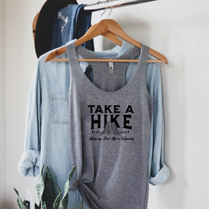 Take a Hike Devils Tower Heather Women's Triblend Racerback Tank