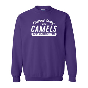 Campbell County High School Trap Shooting Team Purple Adult Crewneck Sweatshirt