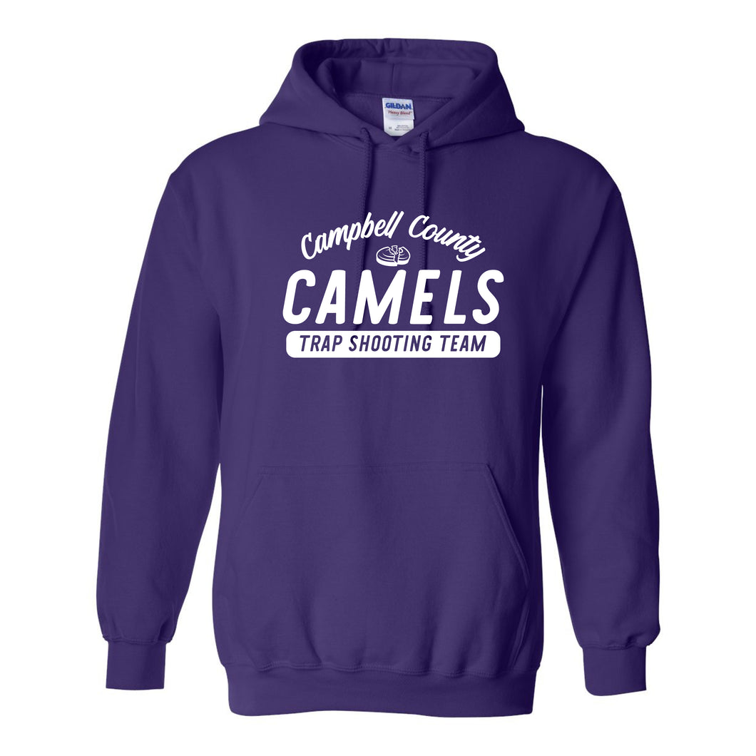 Campbell County High School Trap Shooting Team Royal Adult Hooded Sweatshirt