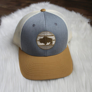 Buffalo low profile trucker snapback – Tri Color