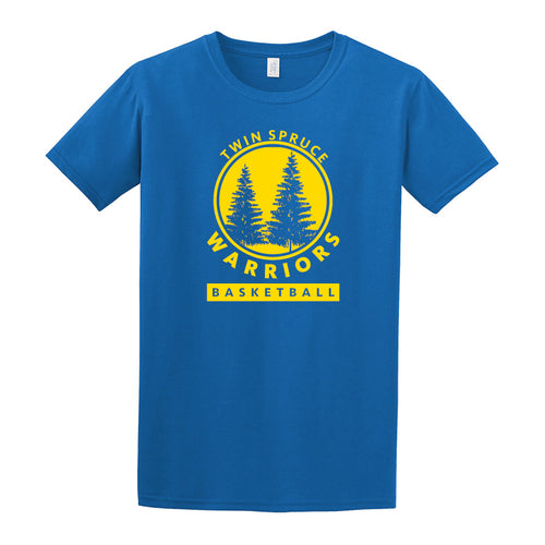 Twin Spruce Warriors Boys Basketball - Gildan - Softstyle® T-Shirt