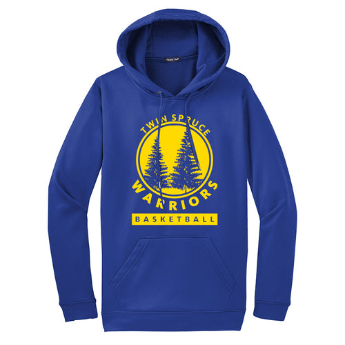 Twin Spruce Warriors Boys Basketball - Sport-Tek® Sport-Wick® Fleece Hooded Pullover