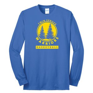 Twin Spruce Warriors Boys Basketball - Port & Company® - Long Sleeve Core Blend Tee