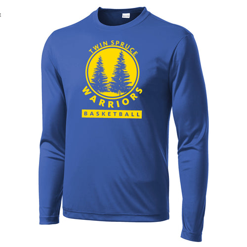 Twin Spruce Warriors Boys Basketball - Sport-Tek® Long Sleeve PosiCharge® Competitor™ Tee