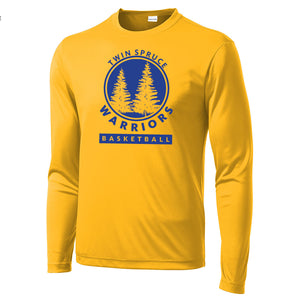 Twin Spruce Warriors Boys Basketball - Gold Sport-Tek® Long Sleeve PosiCharge® Competitor™ Tee