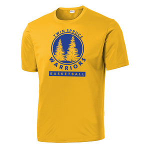 Twin Spruce Warriors Boys Basketball - Gold Sport-Tek® PosiCharge® Competitor™ Tee