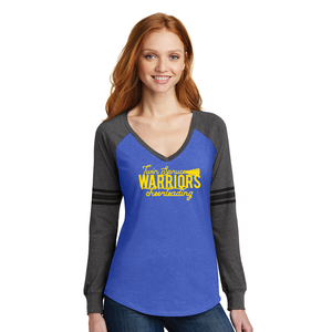 Twin Spruce Warriors Cheerleading - District ® Women's Game Long Sleeve V-Neck Tee