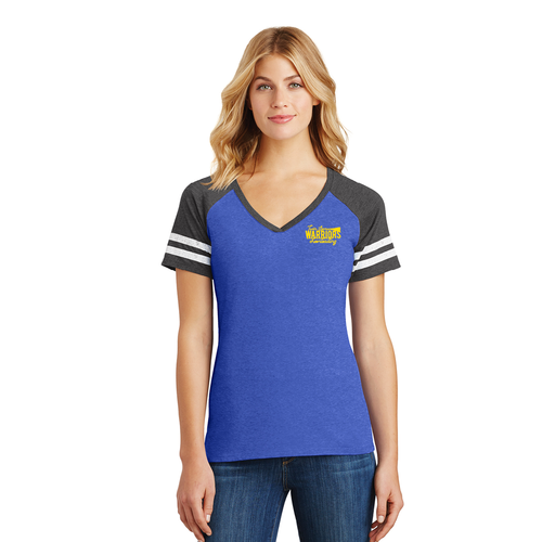 Twin Spruce Warriors Cheerleading - District ® Women's Game V-Neck Tee