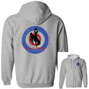 USA Curling 2020 National Championships - Grey Heavy Blend Full-Zip Hooded Sweatshirt