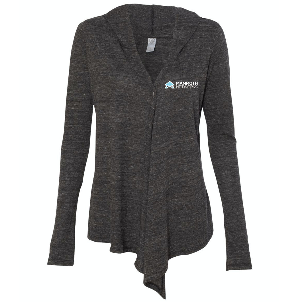 Mammoth Networks - Women's Eco-Jersey Hooded Warm-Up Wrap
