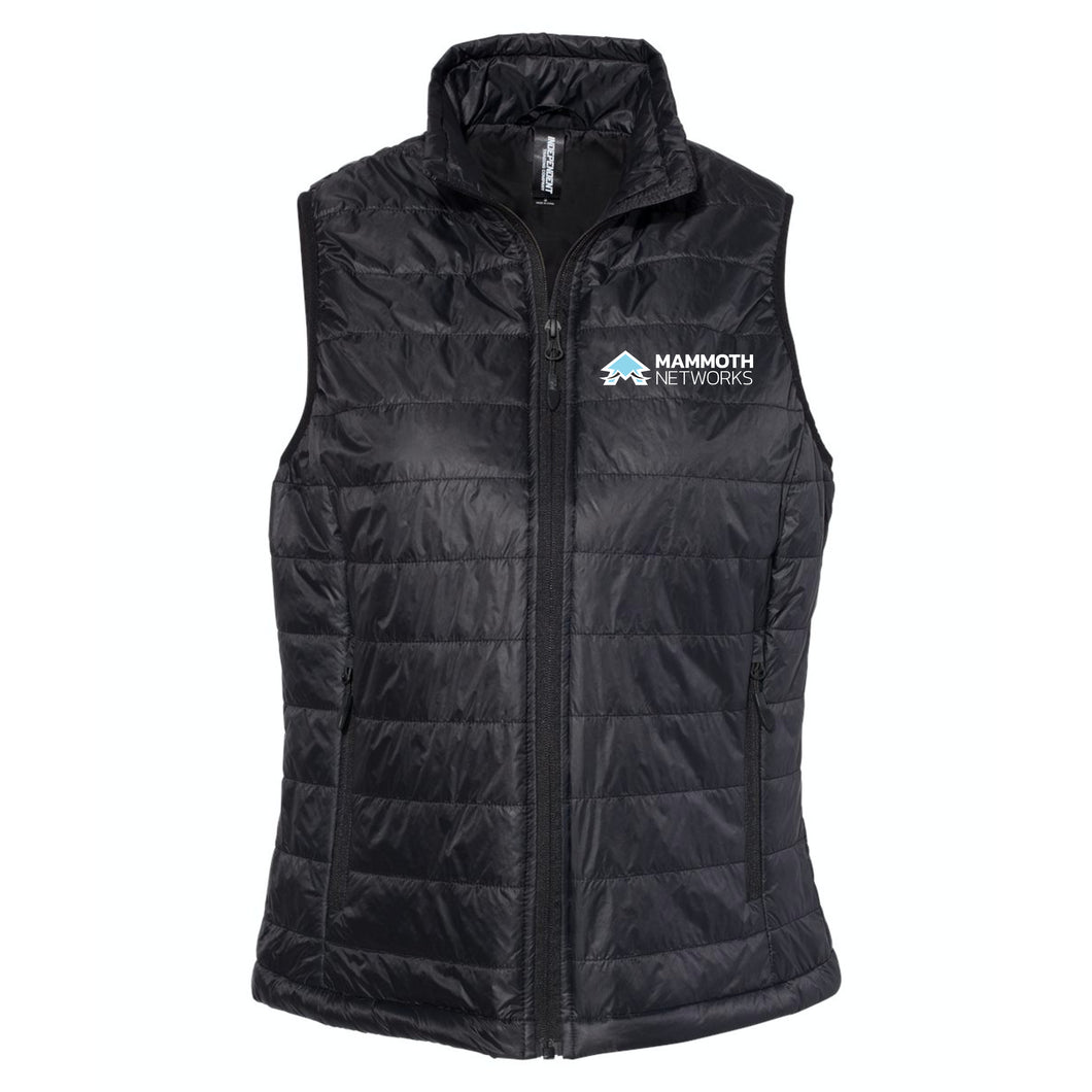 Mammoth Network - Women's Black Puffer Vest