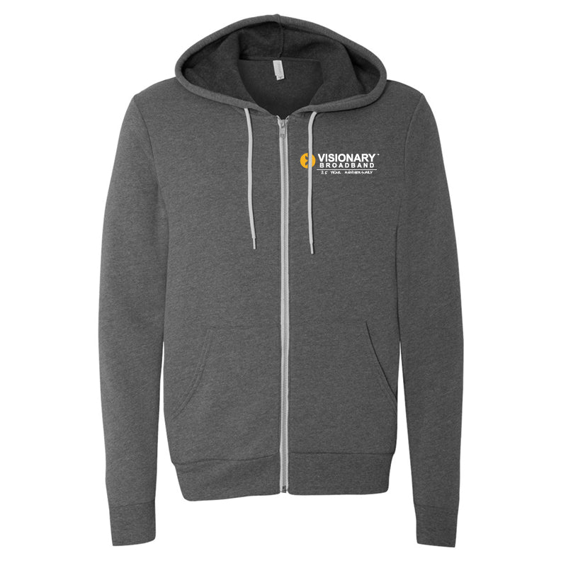 Visionary Broadband - BELLA + CANVAS - Unisex Sponge Fleece Full-Zip Hoodie