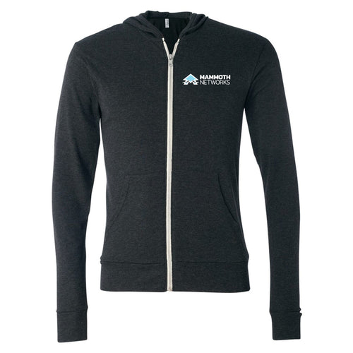 Mammoth Networks - BELLA + CANVAS - Unisex Triblend Lightweight Full-Zip Hooded Long Sleeve Tee