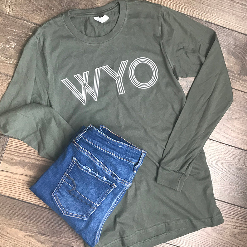 WYO Long-sleeve Tee in Olive