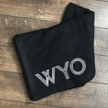 WYO Sweatshirt Blanket in Black