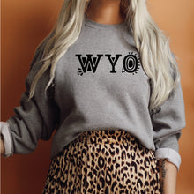 WYO Heather Graphite Gray Crewneck Sweatshirt
