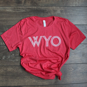 WYO Red Heather Tee