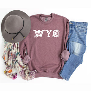 WYO Heather Dusty Maroon Crewneck Sweatshirt