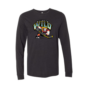 Gillette Wild Hockey Heather Black Long Sleeve T-Shirt