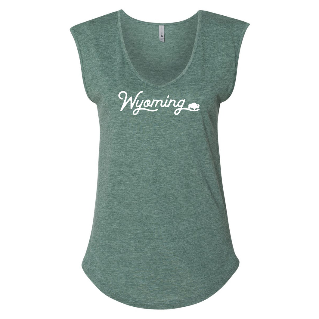 Wyoming Pine Women's Festival Sleeveless V