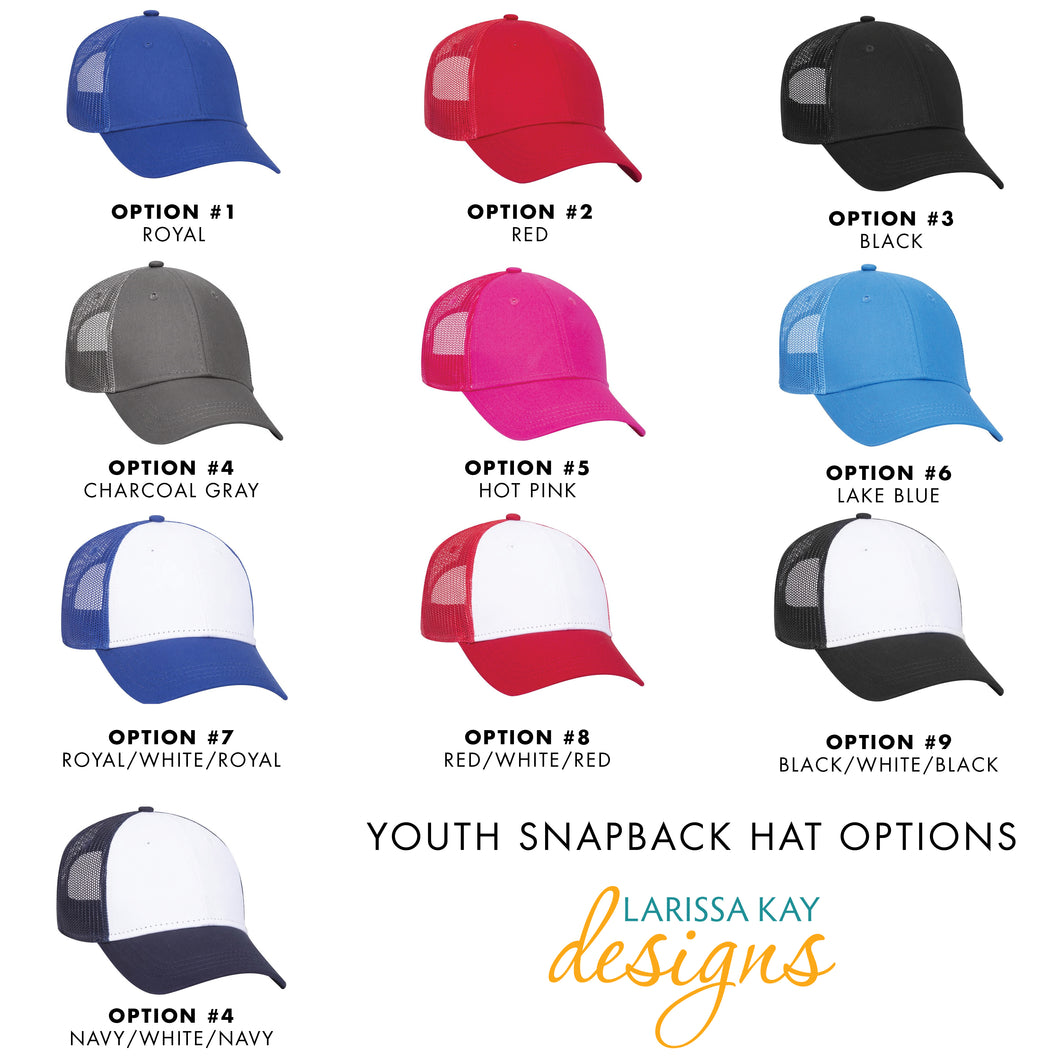 Youth Tractor Leather Patch Snapback Hat