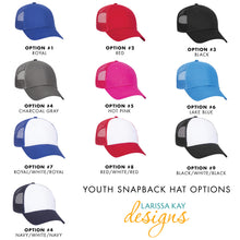 Youth Unicorn Leather Patch Pink Snapback Hat