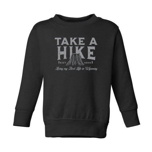Toddler Take a Hike Black Crewneck Sweatshirt