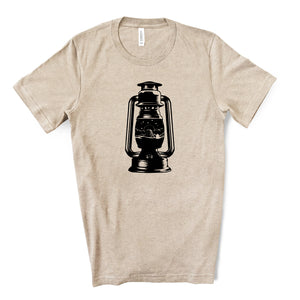 Devils Tower Lantern Tan T-shirt