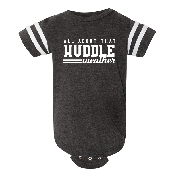 About That Huddle Weather - Baby Onesie Football Fine Jersey Tee