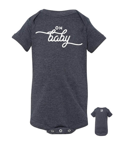 Oh Baby – Gray Gender Neutral Baby Onsie