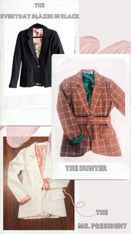 white blaze tan blazer black blazer women's blazer tan plaid blazer